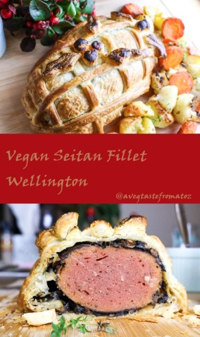 vegan seitan fillet wellington pinterest presentation